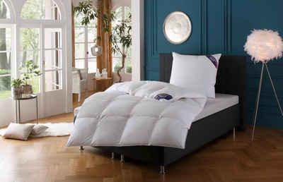 Daunenbettdecke, »Zürich«, Excellent, Füllung: 100% Daunen, Bezug: 100% Baumwolle, Daunendecke hergestellt in Deutschland, allergikerfreundlich, Bestseller, Decke, Bettdecke