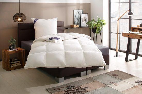 Daunenbettdecke, »100% First Class«, Excellent, extrawarm, Füllung: 100% Daunen, Bezug: 100% Baumwolle, (1-tlg)