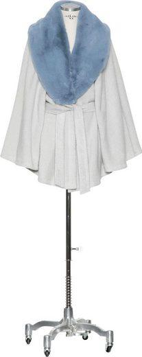 Damenbademantel »LIMITED EDITION: Cashmere & Cotton Cape«, Möve, mit abknöpfbarem Webpelzkragen