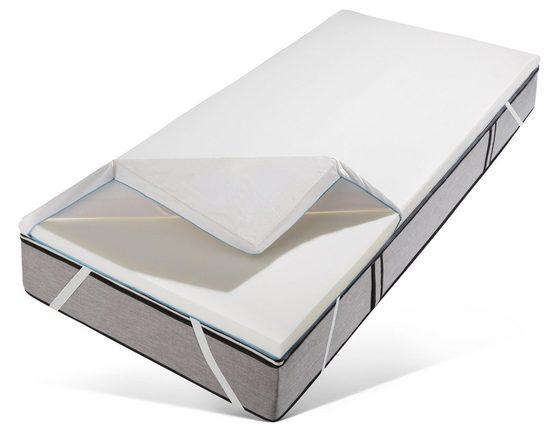 Topper »Aura«, Traumecht, 6 cm hoch, Raumgewicht: 50, Viscoschaum, kühlender Bezug - ideal für Schwitzer