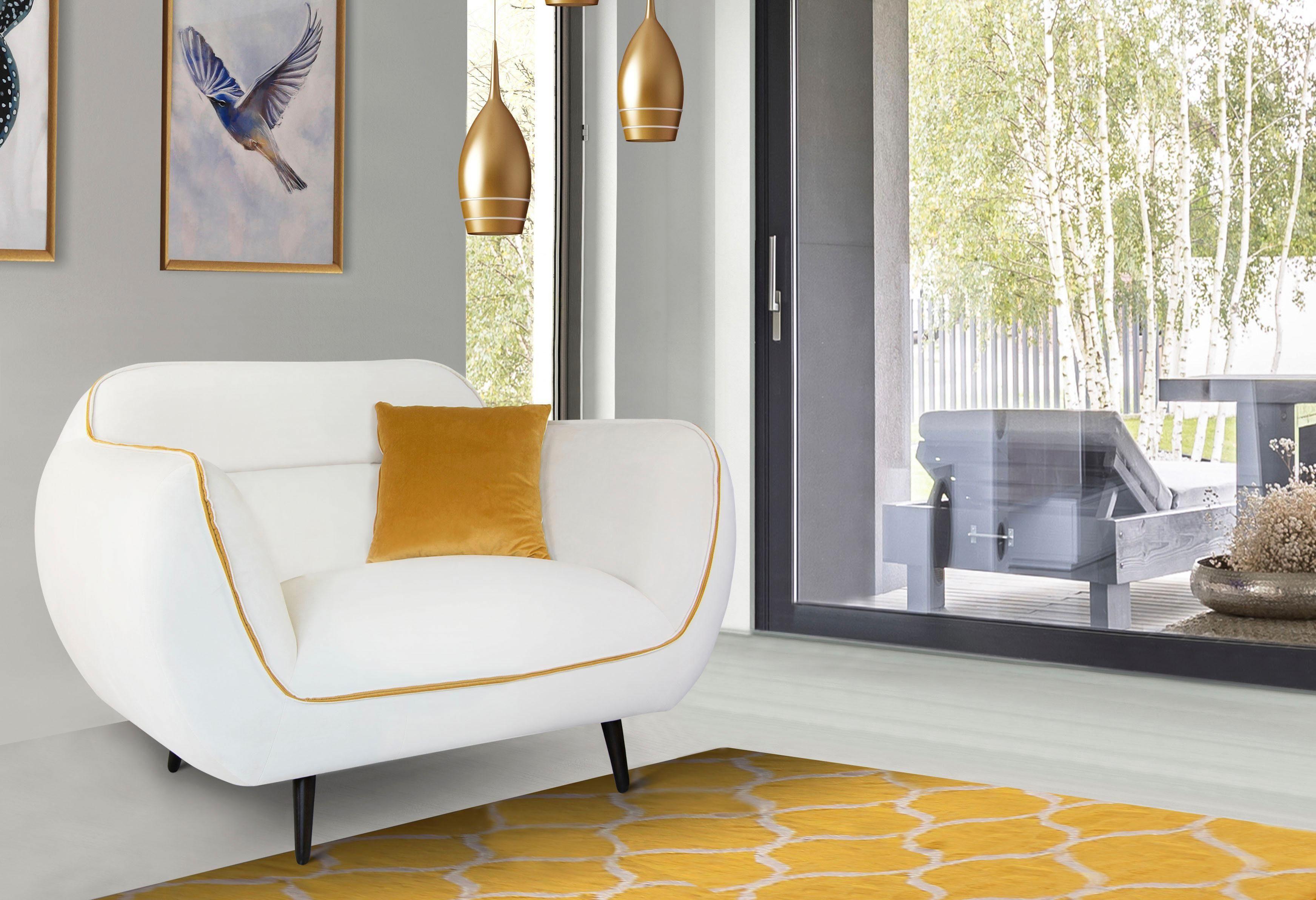 INOSIGN Sessel »Toscania«, Keder mit abgesetzter Farbe, modernes Design online kaufen | OTTO
