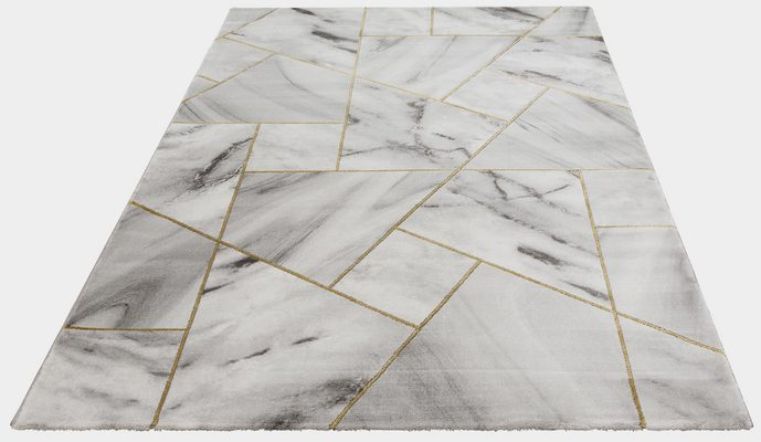Teppich »Lerina«, Leonique, rechteckig, Höhe 12 mm, moderne Marmor-Optik