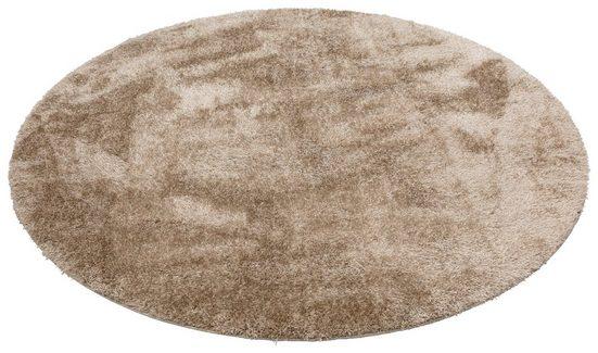 Hochflor-Teppich »Malin«, Home affaire, rund, Höhe 43 mm, Besonder weich durch Microfaser, Wohnzimmer