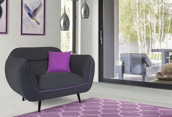 INOSIGN Sessel »Toscania«, Keder mit abgesetzter Farbe, modernes Design