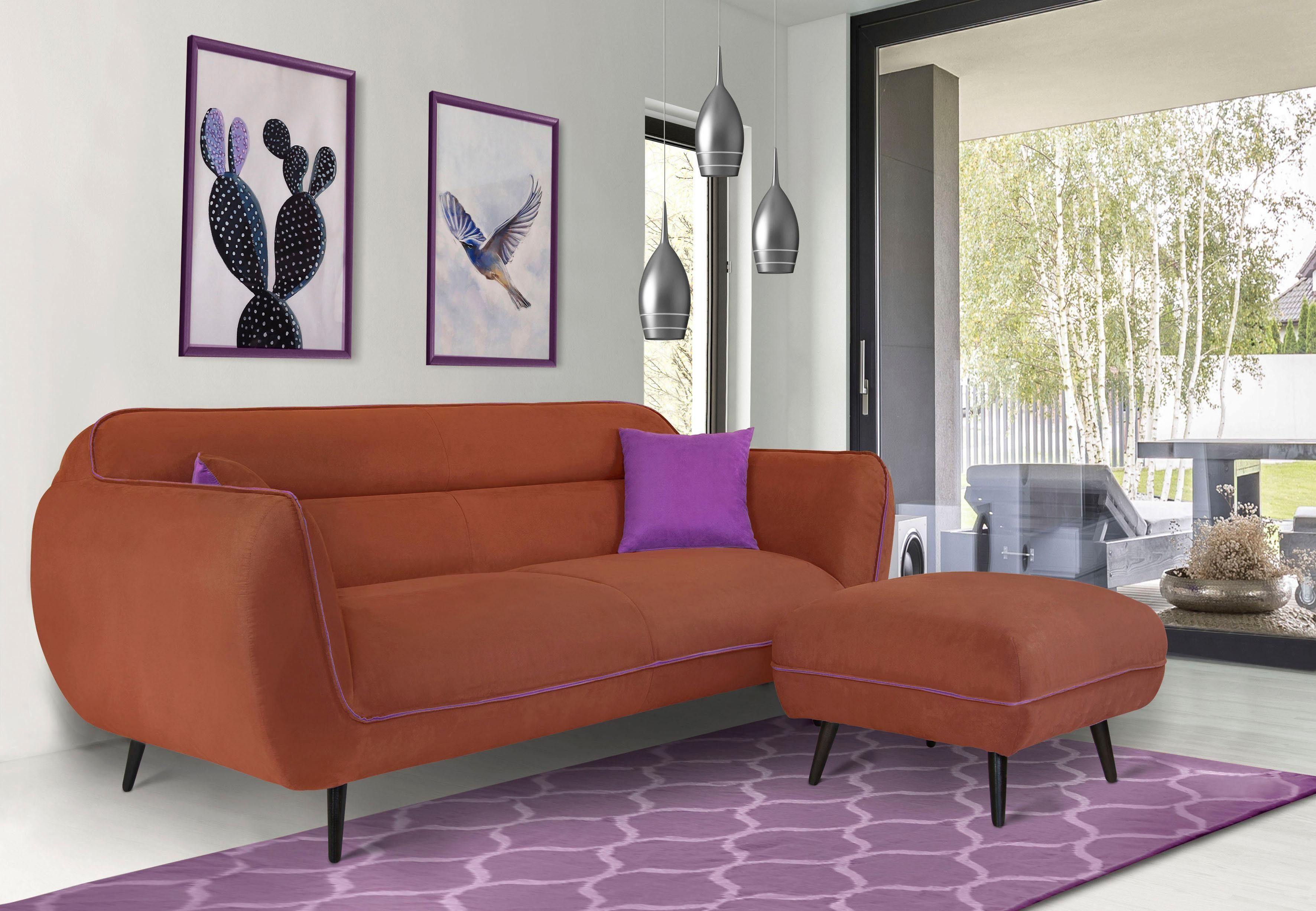 INOSIGN 3 Sitzer »Toscania«, Keder mit abgesetzter Farbe, modernes Design online kaufen | OTTO