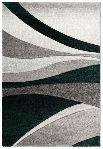 Teppich »Malia«  DELAVITA  rechteckig  Höhe 13 mm  handgearbeiteter Konturenschnitt
