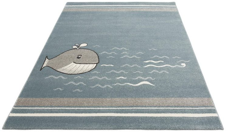 Kinderteppich »Whale«, Lüttenhütt, rechteckig, Höhe 14 mm