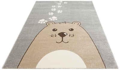 Kinderteppich »Bear«, Lüttenhütt, rechteckig, Höhe 14 mm, Bären-Motiv