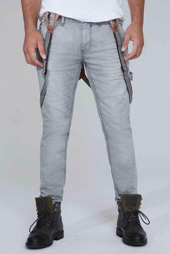 CAMP DAVID 5-Pocket-Jeans mit abnehmbaren Hosenträgern