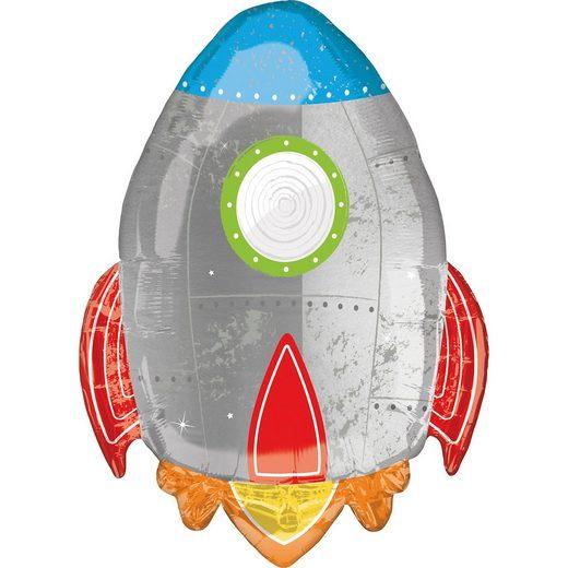 Amscan SuperShape XL Blast off Birthday Folienballon P35 verpackt 2