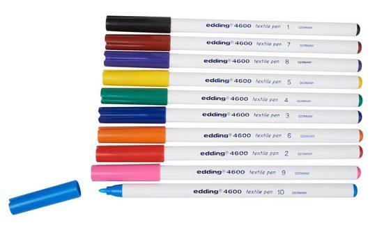 """EDDING Textilstifte Set """"Brilliant Colours 4600"""" 10er-Set"""