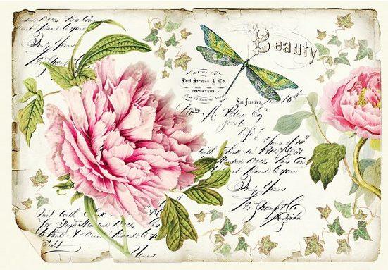 "Stamperia Motiv-Strohseide ""Beauty"""