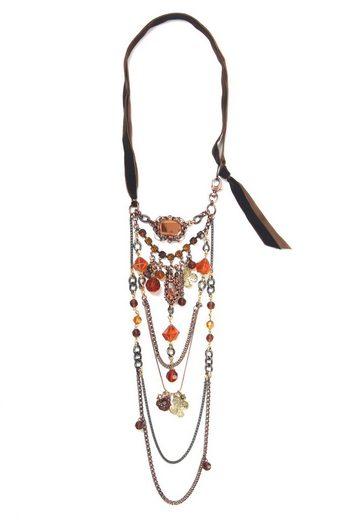 COLLEZIONE ALESSANDRO Lange Kette »Corin«, mit Glassteinen und -perlen