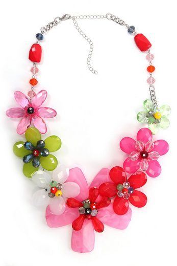 COLLEZIONE ALESSANDRO Statementkette »Flower«, mit unterschiedlichen Blüten