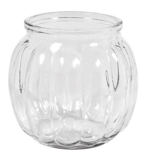 """Glas-Vase """"Rillen"""" 11 cm hoch"""