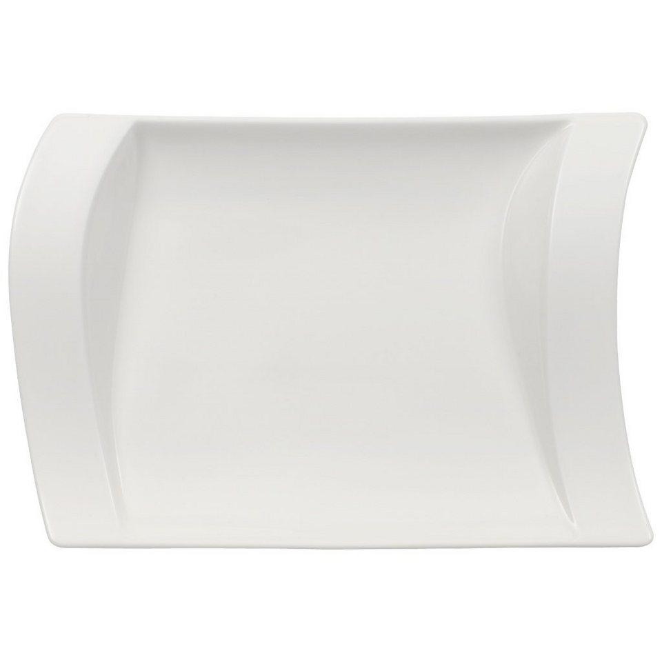 VILLEROY & BOCH Beilagenplatte 21x15cm »NewWave« in Weiss