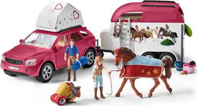 Schleich® Spielwelt »Horse Club, Abenteuer mit Auto und Pferdeanhänger (42535)«, Made in Europe