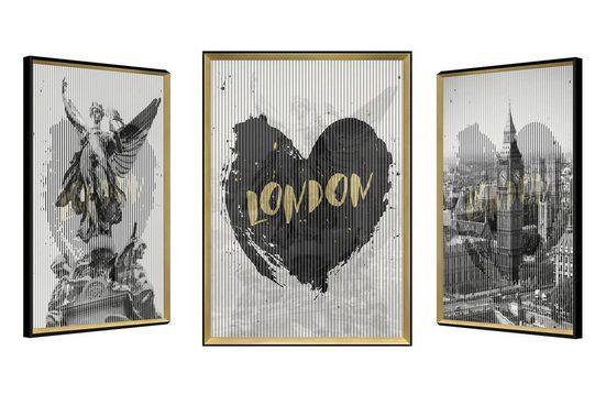 KUNSTLOFT Wandbild »English Rhythm«, gerahmtes Bild mit 3D-Wechselbild-Effekt