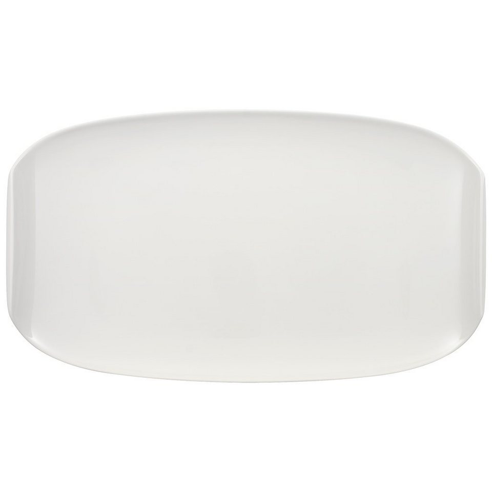 VILLEROY & BOCH Servierplatte 42x24cm »Urban Nature« in Weiss
