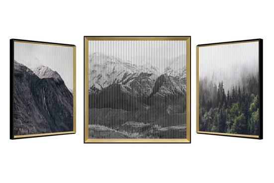 KUNSTLOFT Wandbild »Canadian Miracle«, gerahmtes Bild mit 3D-Wechselbild-Effekt