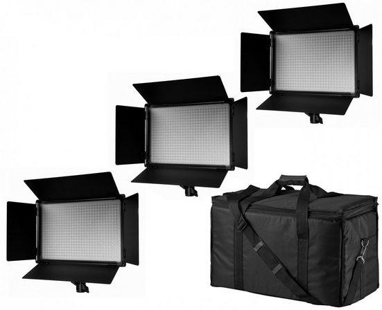 BRESSER LED Lampe »SH-600A Bi-Color LED Flächenleuchten 3er Set«