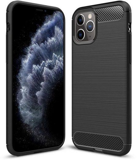 PEDEA Handytasche »Carbon Look Case für Apple iPhone 11 Pro«