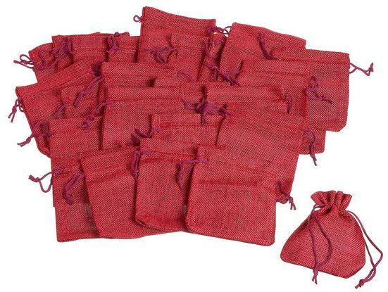 Jutebeutel, 25 Stück, rot