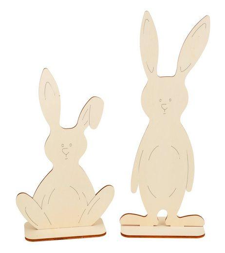 "VBS Stehfiguren ""Hasen Bunny und Funny"" 2er-Set"