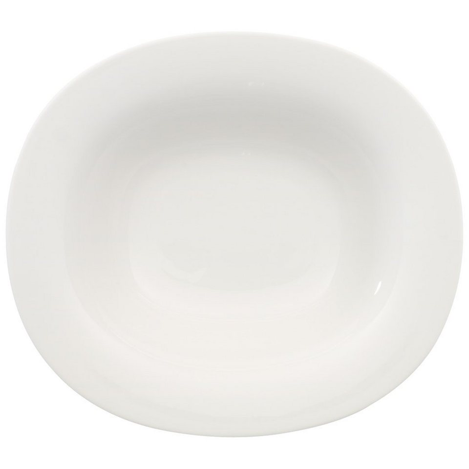 VILLEROY & BOCH Suppenteller oval 24x21cm »New Cottage Basic« in Weiss