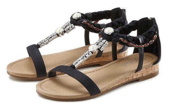LASCANA Sandale mit Schmuckelementen