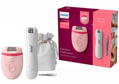 Philips Epilierer BRP531/00, Satinelle Essential inkl. Mini-Epilierer und Pinzette