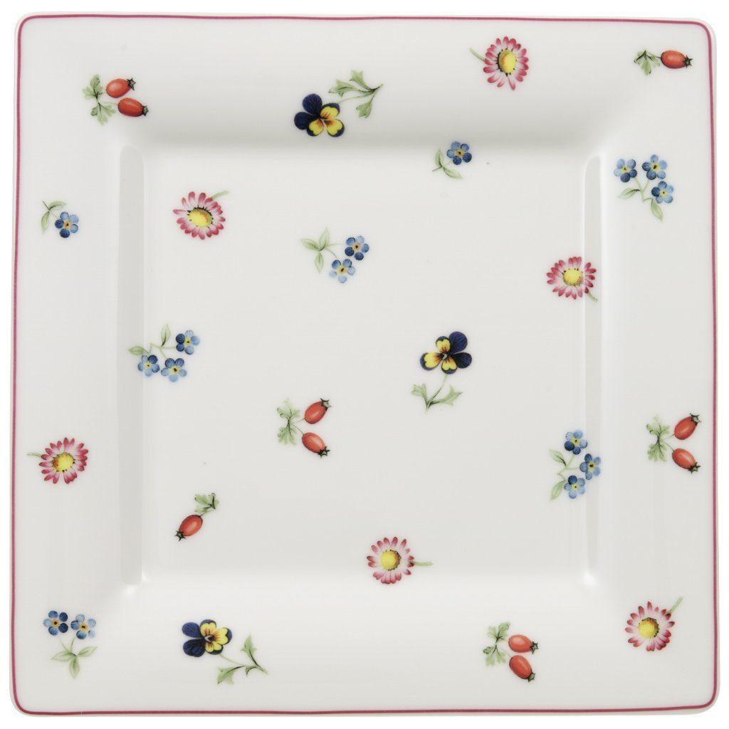 VILLEROY & BOCH Frühstücksteller Quadrat 21cm »Petite Fleur«