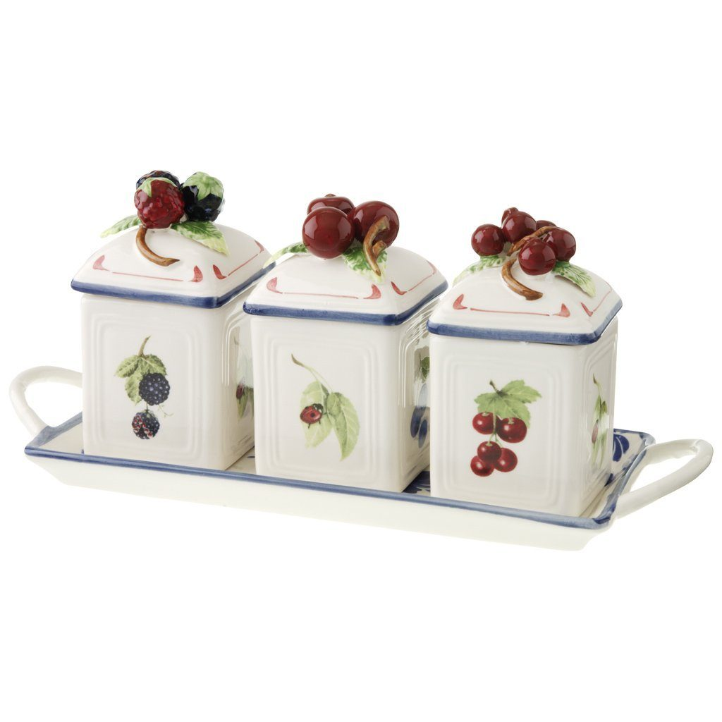 VILLEROY & BOCH Marmeladendosen-Set 3tlg. mit Table »Cottage Charm«