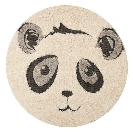 Kinderteppich »Panda Pierre«, Zala Living, rund, Höhe 22 mm, Hoch-Tief-Struktur, Spielteppich