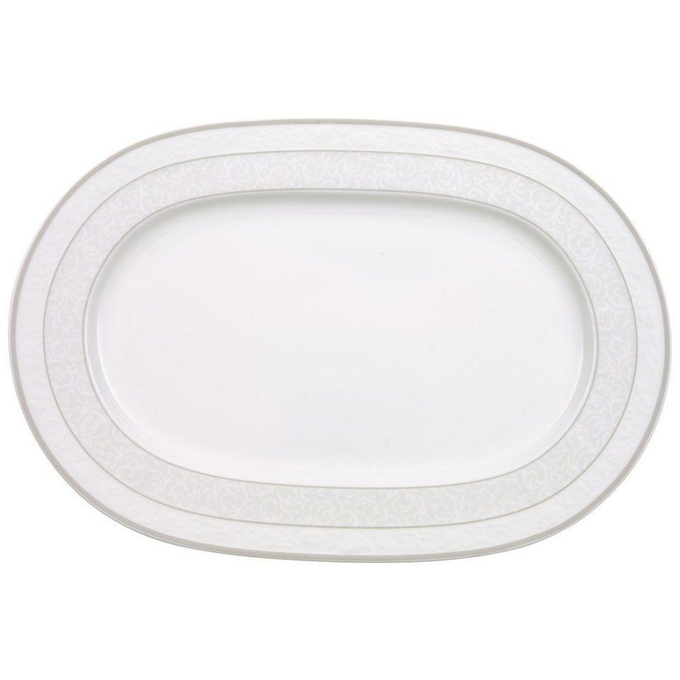 VILLEROY & BOCH Platte oval 35cm »Gray Pearl« in Dekoriert