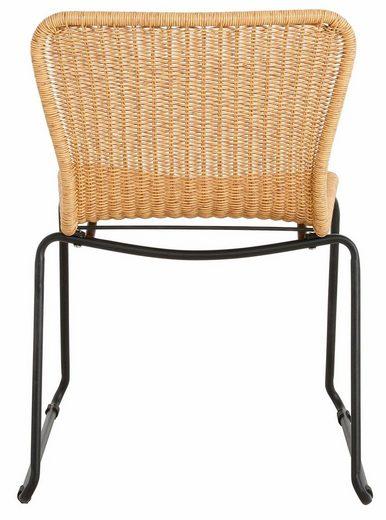 andas Rattanstuhl »Clark« 2er Set  aus schönem Rattangeflecht  mit einem Metallgestell  Sitzhöhe 44 cm