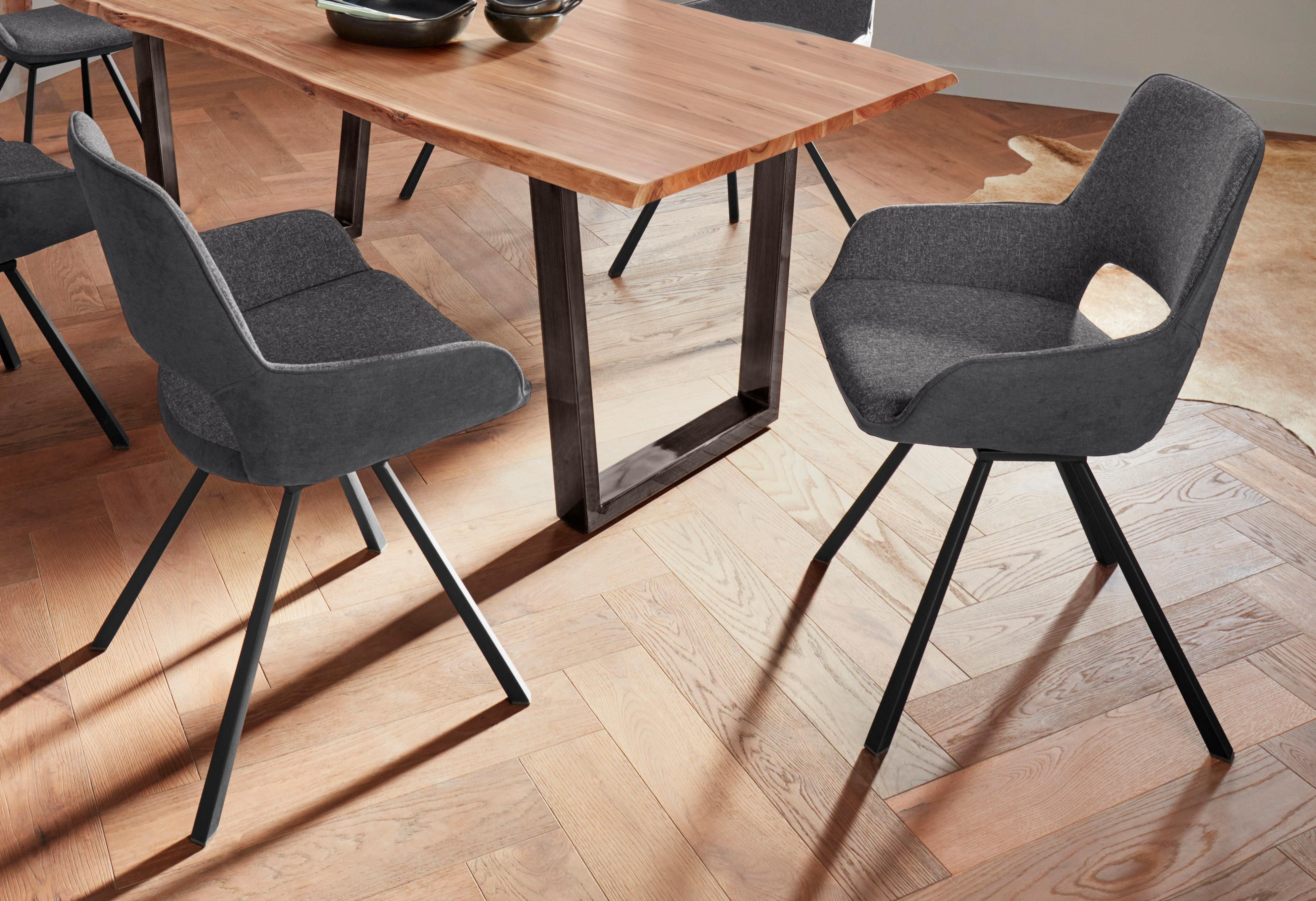 MCA furniture Stuhl »Parana« 2er Set, Gestell aus Metall online kaufen | OTTO