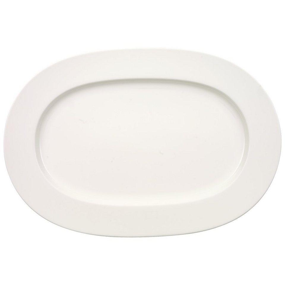 VILLEROY & BOCH Platte oval 41cm »Anmut« in Weiss
