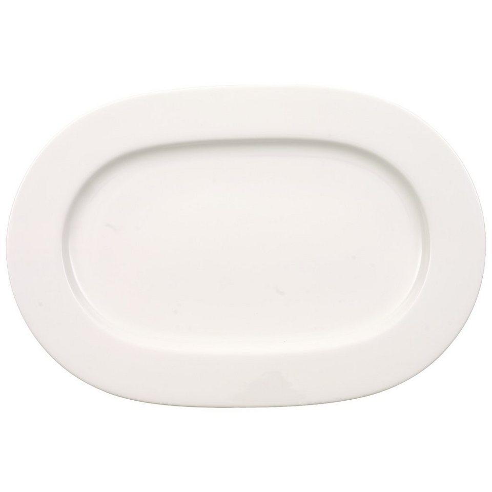 VILLEROY & BOCH Platte oval 34cm »Anmut« in Weiss