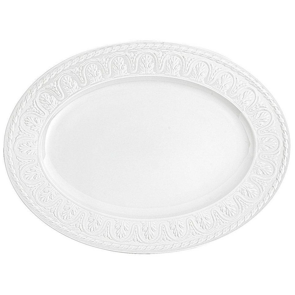 VILLEROY & BOCH Platte oval 40cm »Cellini« in Weiss