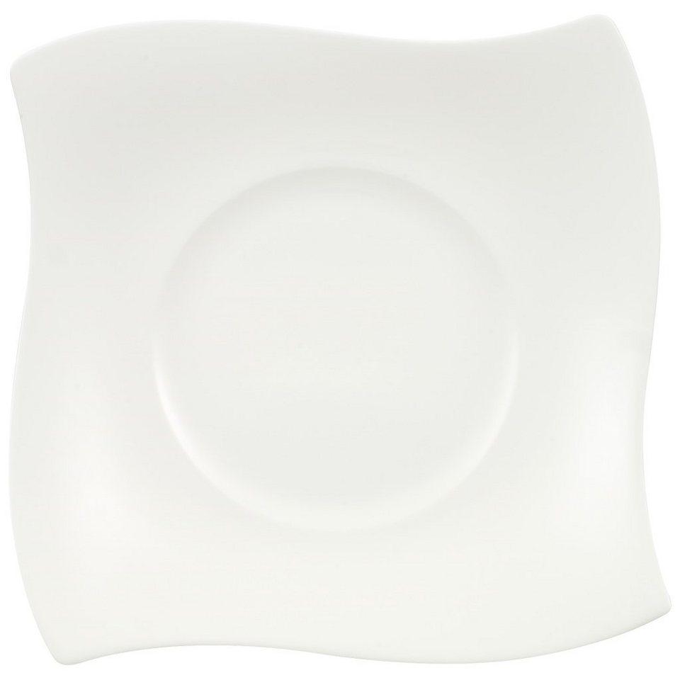 VILLEROY & BOCH Brotteller eckig 19x19cm »NewWave Premium« in Weiss
