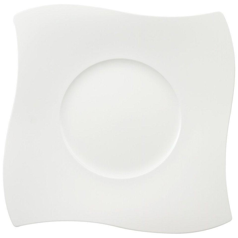 VILLEROY & BOCH Platzteller 35x35cm »NewWave Premium« in Weiss