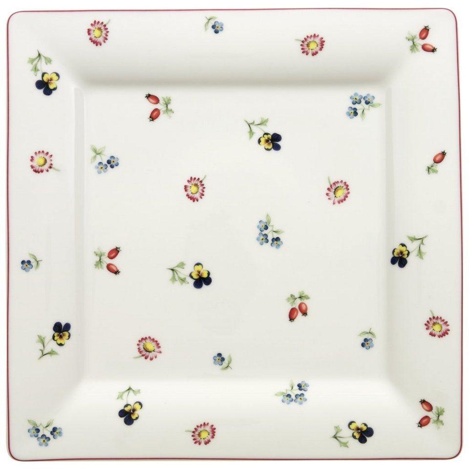 VILLEROY & BOCH Speiseteller Quadrat 27cm »Petite Fleur« in Dekoriert