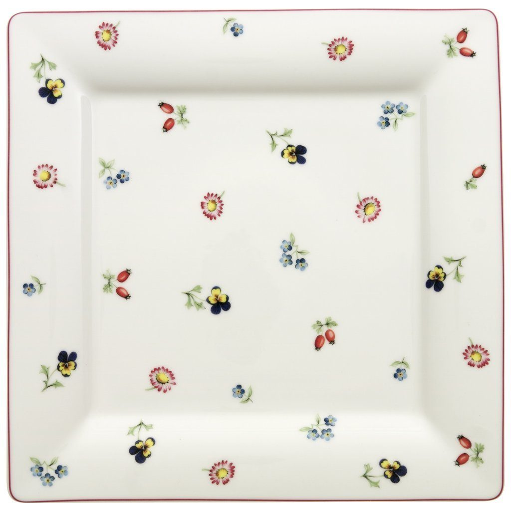 VILLEROY & BOCH Speiseteller Quadrat 27cm »Petite Fleur«