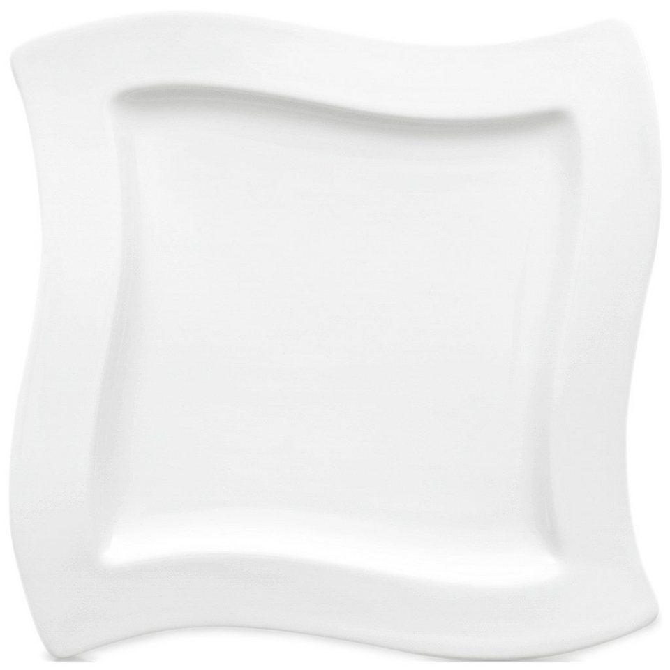 VILLEROY & BOCH Frühstücksteller Quadrat 24x24cm »NewWave« in Weiss