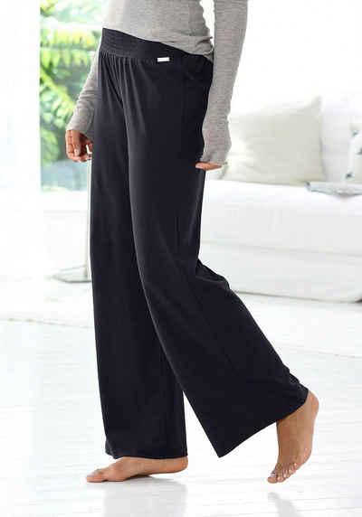 LASCANA Homewearhose mit weitem Bein