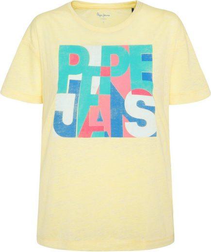 Pepe Jeans T-Shirt »BROOKE« mit buntem Logoprint im Graphic-Look