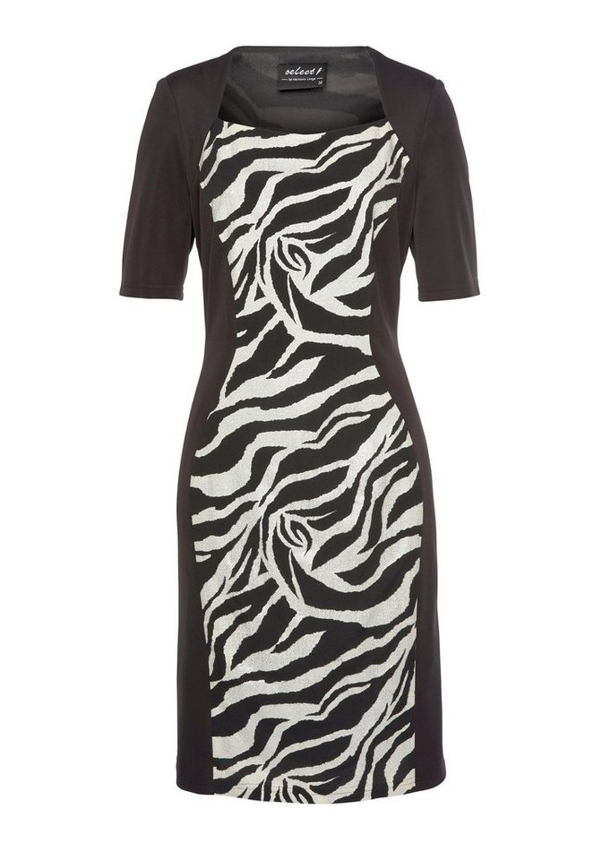 Festtagsmode - select! By Hermann Lange Cocktailkleid mit Zebra Muster, Animal Muster mit Glitzer Print ›  - Onlineshop OTTO