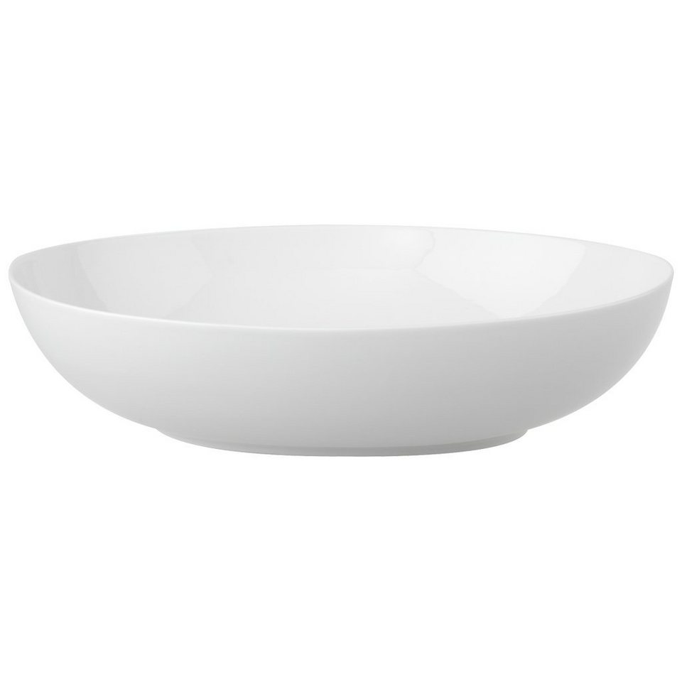 VILLEROY & BOCH Servierschüssel oval 32cm »New Cottage Basic« in Weiss