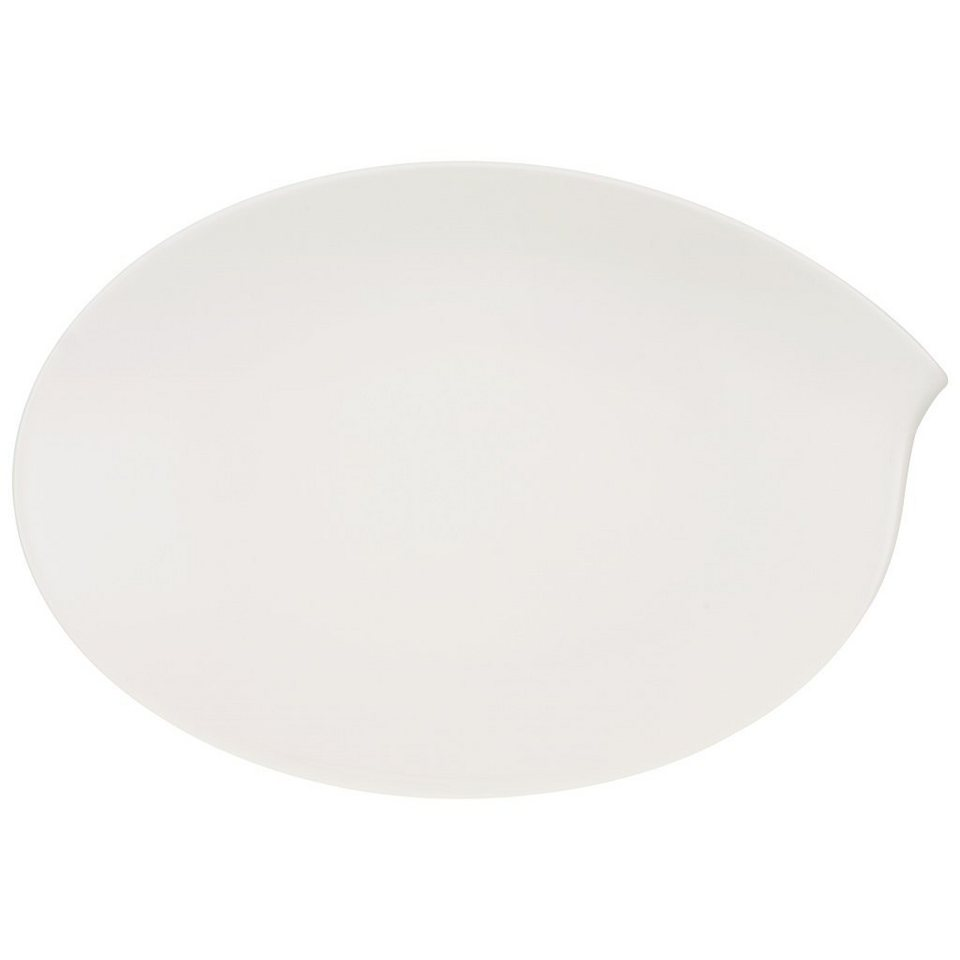 VILLEROY & BOCH Platte oval 36cm »Flow« in Weiss